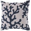 Surya Bethany Coral Throw Pillow