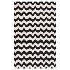 Surya Frontier Jet Black/Winter White Chevron Area Rug
