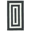 Capel Rugs Willoughby Black/White Striped Outdoor Area Rug
