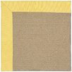Capel Rugs Zoe Sisal Machine Tufted Yellow/Brown Area Rug