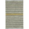 Capel Rugs Barred Smoke Yellow Striped Area Rug