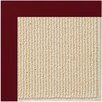 Capel Rugs Zoe Beach Sisal Machine Tufted Wine/Brown Area Rug