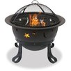 Uniflame Corporation Bronze Deep Bowl with Stars and Moons