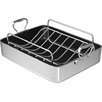 """Chef's Design 16"""" Polished Aluminum French Roaster with Rack"""