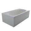"dCOR design True Solid Surface Zenith 70.88"" x 36.63"" Soaking Bathtub"