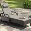 dCOR design Riverside Patio Chaise Lounge with Cushion