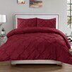 Sweet Home Collection Luxurious Pinch Pleat 3 Piece Full/Queen Comforter Set