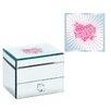 Pampered Girls Square 1 Drawer Heart Design Jewelry Box