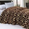 BNF Home Safari Animal Nature Faux Fur and Sherpa Throw Blanket
