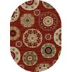 Mayberry Rug Timeless Deco Pinwheel Claret Area Rug