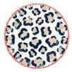 "Coton Colors Leopard Ruffle 11"" Dinner Plate"
