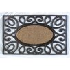 A1 Home Collections LLC Elegant Circles Princess Doormat