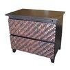 Indo Puri Chelle 2 Drawer Nightstand