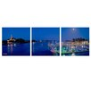 Ready2hangart 'Boats at Night' by Bruce Bain 3 Piece Photographic Printt on Wrapped Canvas Set