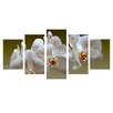 Ready2hangart 'White Orchid' by Bruce Bain 5 Piece Photographic Printt on Wrapped Canvas Set