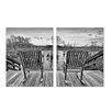Ready2hangart 'Rocking Chairs' by Bruce Bain 2 Piece Photographic Printt on Wrapped Canvas Set