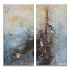 Ready2hangart 'Bueno Exchange LXXIV' by Alexis Bueno 2 Piece Graphic Art on Wrapped Canvas Set