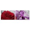 Ready2hangart 'Roses are Red, Violets are Blue II' by Art Alexis Bueno 2 Piece Wrapped Canvas Wall Art Set