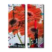 Ready2hangart Painted Petals LXXXI 2 Piece Graphic Art on Canvas Set