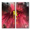 Ready2hangart 'Painted Petals LV' 2 Piece Graphic Art on Wrapped Canvas Set