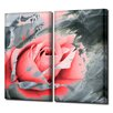 Ready2hangart 'Painted Petals XLVIIB' 2 Piece Graphic Art on Wrapped Canvas Set