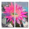 Ready2hangart 'Painted Petals L' 2 Piece Wrapped on Canvas Wall Art Set