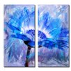 Ready2hangart 'Painted Petals XLII' 2 Piece Graphic Art on Wrapped Canvas Set