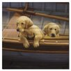 WGI-GALLERY The Crew Golden Painting Print on Wood