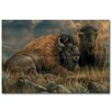 WGI-GALLERY Distant Thunder Bison Painting Print on Wood