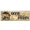 WGI-GALLERY Gone Fish's Bass Painting Print on Wood