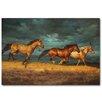 WGI-GALLERY Thunder Ridge Painting Print on Wood