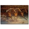 WGI-GALLERY Thundering Water Painting Print on Wood