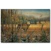 WGI-GALLERY November Whitetail Deer Painting Print on Wood