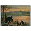WGI-GALLERY Serenity at Twilight Painting Print on Wood