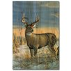 WGI-GALLERY Whitetail Deer in Winter Painting Print on Wood
