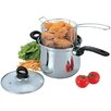 Culinary Edge 3-Piece Deep Frying Pan Set with Lid