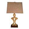 "Jenkins Lamp, Inc. Sahara Marble 33"" H Table Lamp with Rectangular Shade (Set of 2)"