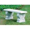 Campania International Traditional Straight Cast Stone Garden Bench