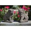 Campania International 2 Piece Foo Dogs Statue Set