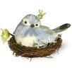 Boston International Blue Bird in Nest Statue (Set of 2)