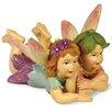 Boston International Fairy Twins Lying Down Statue (Set of 2)
