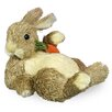 Boston International Lounging Bunny with Carrot Statue