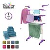 Bonita Maximo Multi Function Clothes Drying Stand with 6 Piece Terry Towel Set