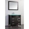 "MTD Vanities Figi 36"" Single Sink Bathroom Vanity Set with Mirror"