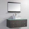 """MTD Vanities Nepal 48"""" Single Sink Bathroom Vanity Set with Mirror"""