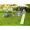 Sportspower Almansor Metal Trampoline/Slide and Swing Set