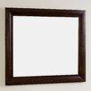 American Imaginations Modern Birchwood-Veneer Wall Mirror