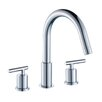 American Imaginations Double Handle Off Center Brass Faucet Set with Drain