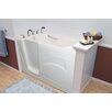 "A+ Walk-In Tubs Navigator 54"" x 30"" Whirlpool and Air Jetted Walk-In Bathtub"