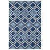 Kaleen Kelly Home & Porch Blue Geometric Indoor/Outdoor Area Rug